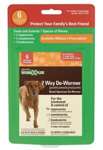 SENTRY Worm X Plus 7 Way De-Wormer for Large Dogs 1ea/6 ct