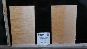 Tonewood Quilted Maple Kopfplatten Figured Guitar Builder Neck Droptop 3