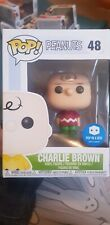 Funko Pop Peanuts Charlie Brown with red jumper sweater Pop In A Box Exclusive