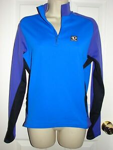PEARL IZUMI Blue Purple Black long sleeve Cycling Shirt technical wear womens M