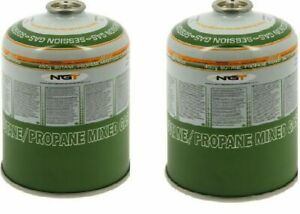 2 x 450g Canisters of Butane Propane Gas for Fishing Hiking Camping Hunting NGT