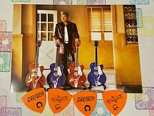 Genuine Gretsch Brian Setzer Orchestra Postcard & Nashville Heavy Guitar Picks