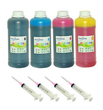 4x16oz Premium refill ink kit for HP printer cartridges  64oz