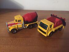 Matchbox Lot - Peterbilt Cement Mixer, Ford Cargo Skip 1981, 1986