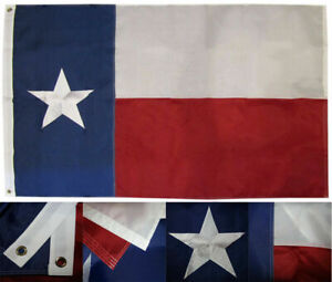 5x8 Ft Texas State Flag Embroidered Star Nylon Double Sided Military Grade 210D