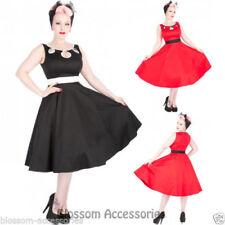 Rockabilly Solid Sleeveless Dresses for Women