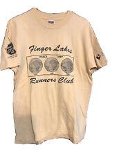 Vintage Ithaca Finger Lakes Running Club Fruit Of Loom Heavy T-shirt 90's Single