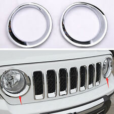 EF ABS Chrome Front Headlight Lamp Cover Molding Trim For Jeep Patriot 2011-2016