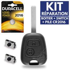 ✅KIT Réparation Plip Coque Clé pour Télécommande PEUGEOT 206 106 306 307 107 207