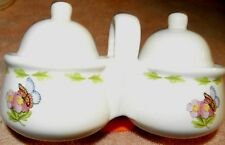 Houston Market Hallmark 31832 dual jelly condiment jars lids butterflies UNUSED