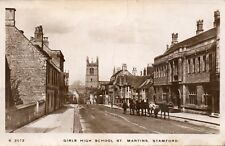 Girls High School - ST MARTINS - STAMFORD - Lincs 1914 RP Postcard (SC87)