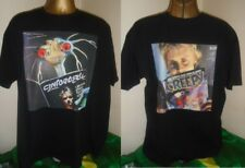 ROGER TAYLOR - FUN IN SPACE -UNIQUE 1981 DOUBLE PRINT T SHIRT-BLACK- EXTRA LARGE