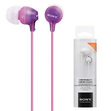 Genuine NEW SONY MDR-EX15LP In-ear Earphone Headphones Buds (Purple)