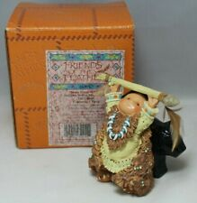 "Friends of the Feather ""Bears Great Wisdom"" Indian with Bear Fetish Figurine"