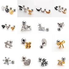 Small Helix Ear Crystal Cartilage Body Piercing Jewellery Tragus Bars Earring