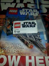 LEGO Poe's mini X-wing STAR WARS THE FORCE AWAKENS Toys R Us PROMO /w comic