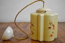 Lampe Glas Jugendstil Rund Schmal Art Deco Deckenlampe Hängelampe Alt Antik