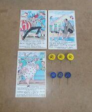 EXPOSITION UNIVERSELLE 1958 BRUXELLES EXPO 58 broches souvenirs cartes postales