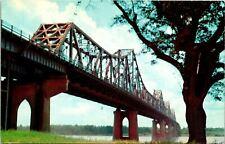 Baton Rouge LA Mississippi River Bridge Postcard unused (16813)