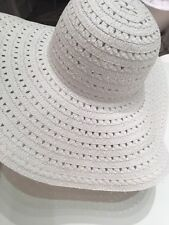 Chic White broad rimmed hat