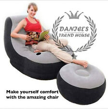 Inflatable Recliner Chair Sofa Lounge & Recreational Footstool Living Room Set