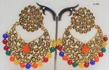 Indian Oxidized gold Colour Earring multi Bead Jumka Jumki Bollywood Earring new