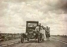 1937 Vintage antique PHOTO 16x11, TEXAS FARMERS, Family, Texas, auto, Cowboy