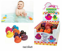1x Colour Changing Bath Ducks Toy Baby Toddler Play Bathtime Squeaky Rubber Duck