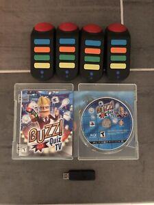 Buzz Quiz TV & Buzz Quiz World with Four Buzzers, USB Dongle PlayStation 3 PS3