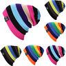 Unisex Men Women Wool Knit Knitted Winter Hat Ski Skull Cap Rainbow Hip-Hop Hats