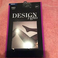 MARKS AND SPENCERS PATTERNED TIGHT SIZE M IN PURPLE
