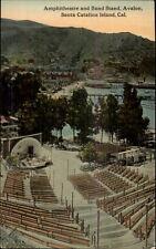 Santa Catalina Island CA Amphitheatre & Band Stand Avalon c1910 Postcard