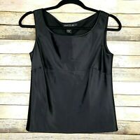 Lafayette 148 New York Silk Tank Top Sleeveless Blouse • Size 2 • Black