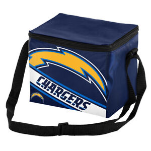 San Diego Chargers Big Logo Stripe 6 Pack Cooler Lunch Box Bag Insulate