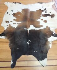 SALE COW HIDE Rug 6x8, 6x9 Hair on Natural leather Area Animal calf print Brown