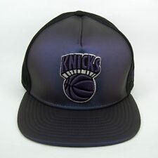 New Era Para hombre NBA New York Knicks Negro y Púrpura 5950 Casquillo Cabido - 7 1/2