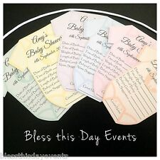 Baby Shower Game - Baby Prediction Card Clothesline - SMALL size - Pack of 6