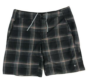 Columbia Men's 38 Swim Shorts Swim Ware Wear Trunks Beach Pockets Plaid