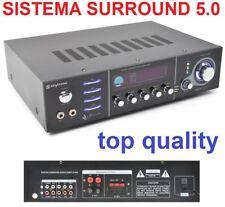 AMPLIFICATORE 5 CANALI HIFI 600W  SURROUND HOME THEATRE con funzioni karaoke