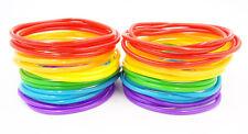 New High Quality 40 Piece Rainbow Jelly Bracelet Set Gay Pride #B1112A-40