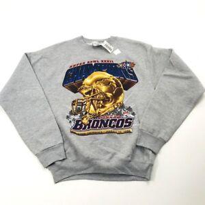 NOS Denver Broncos 1998  Super Bowl Champions XL Sweatshirt Elway USA Made (281)