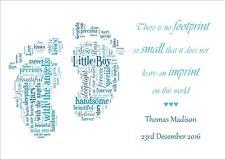 Memorial Keepsake Card Bereavement Miscarriage Stillborn Baby Loss Memory Print