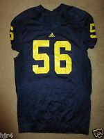 Michigan Wolverines #56 Team 2008 Football Game Used Adidas Jersey 46