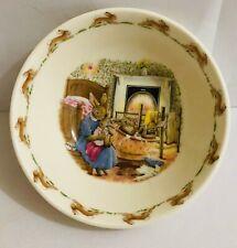 1988 Royal Doulton Bunnykin'S Cereal Bowl Taking their Bath