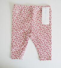 Ralph Lauren Baby Girls Floral Print Stretch Leggings Cream/Red Multi Sz 3M-NWT