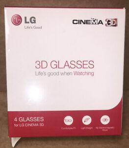 M648 Pk 4 x LG passive 3D Glasses AG-F310(X4) bundle for LG cinema 3D Free Post