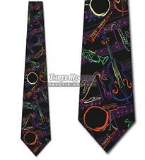Jazz Tie Music Neckties Mens Instrument Musical Notes Neck Ties NWT