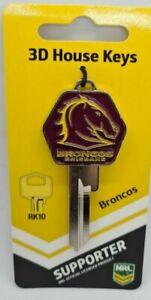 NRL Brisbane Broncos 3D House Key Blank - Collectable - NRL -  TE2 Keyway