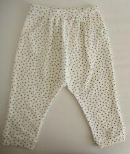 Mädchen Pumphose H&M Sommerhose Hose weiß gepunktet 100% Baumwolle Gr 86 92 NEU