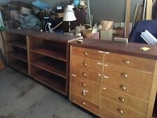 Apothecary Shop Fittings Antique Units Matched Pair Drawers and Shelves